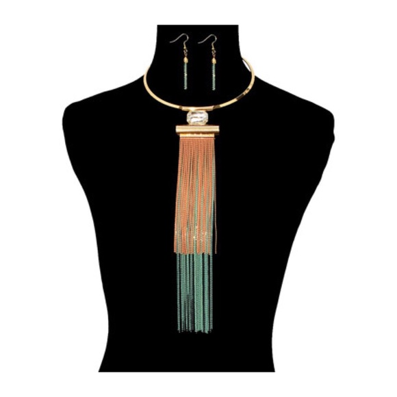 034b659c35c26 This Is A Double Layered Chain Choker Set Boutique